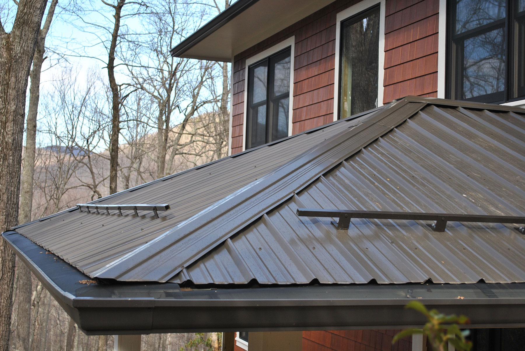 Marvelous Gutter Protection On Metal Roofs Higher Ground Chattanooga